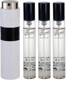 Gucci Flora Eau de Toilette Purse Spray Refillable  + 3 Refills 4 x 0.5 oz-2oz