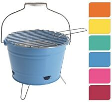 Portable Steel BBQ Grill Bucket For Camping Caravaning Beech Or Fire Pit