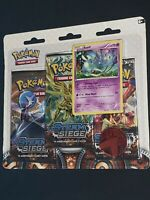 Pokemon- XY Steam Siege -2016- 3-Booster Blister Pack- Azelf Promo- New!!!