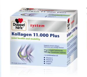 DOPPELHERZ® system KOLLAGEN 11000 PLUS 30 ampoules x 25ml, FREE P&P, UK Stock