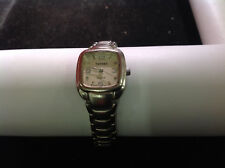 Terner Silver Tone Square Face Clast Band Wrist Watch 5.5 inches Long