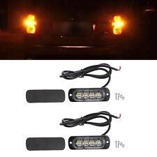4Led Strobe Warning Light Grille Flash Lightbar Ultra-thin Truck Car Lamp DC 12V