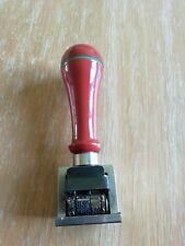 (164) vecchio timbro metallico datario pagato san paolo