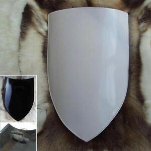 Rare Medieval  Plain White Shield Knight Templar Armor Shield Sca Larp Antique
