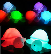 1X Baby Kids Toy Multi Color Changing Tortoise Flashing Led Christmas Lamp Shus#