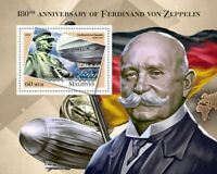 Maldives Zeppelins Stamps 2018 MNH Ferdinand von Zeppelin Aviation People 1v S/S