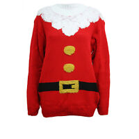Mens Ladies Christmas Warm Jumper 3D Xmas Novelty HoHoHo Santa Pull Over Sweater