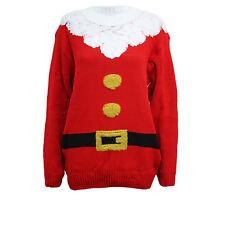 Mens Ladies Christmas Warm Jumper 3D Xmas Novelty HoHoHo Santa Pull Over Sweater