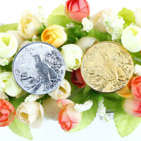 """2pcs year of the dog gold/silver chinese zodiac anniversary coins souvenir coin"""""""