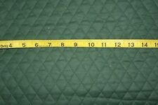 """Solid Hunter Green QUILTED FABRIC Double Sided 1""""Diamond BTY"""