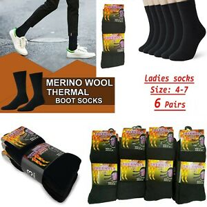 Ladies Thermal Socks Hiking Boot Sock's Thick Winter Warm Adults Women Assrt 4-7