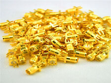 100 Pcs Gold SMA female jack solder PCB clip edge mount RF adapter connector