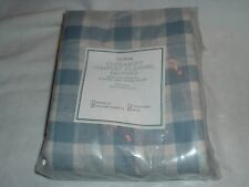 L.L.Bean Flannel Pillowcases Soft Blue Gray Check Pattern 2 King NEW Sealed