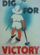 A3 World War II Propaganda Poster DIG FOR VICTORY Home Front Patrotism Gardens