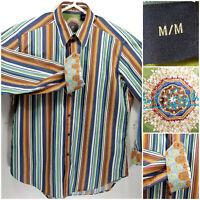 Robert Graham Mens Medium Shirt Long Sleeve Button Up
