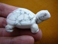 (Y-TUR-LAO-749) White gray TURTLE tortoise carving FIGURINE gemstone turtles