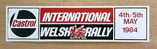 1984 Castrol International Welsh Rally Motorsport Sticker / Decal