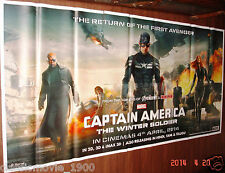 "CAPTAIN AMERICA :THE WINTER SOLDIER  6 SIX SHEET GIANT POSTER 52"" X 106"""