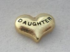 Gold Daughter Heart Floating Charm for your Glass Memory Lockets