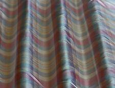 "Soft Blue/Pink/Peach Dupioni Plaids 100% Silk Fabric 54"" Wide By Yard (SD-673)"