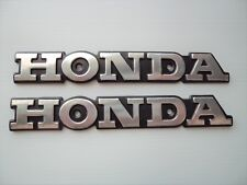 Honda Retro Classic Street Emblem Badge Tank Decals SILVER / BLACK **UK STOCK**