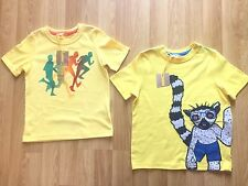 Boys John Lewis Set Of 2 Yellow Themed Print Tops  - Size 4 Years  - Mint + Tag