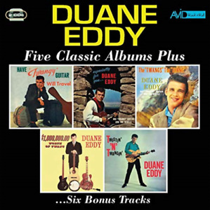 DUANE EDDY-FIVE CLASSIC ALBUMS PLUS (HAVE TWANGY GUITAR WILL CD NEW