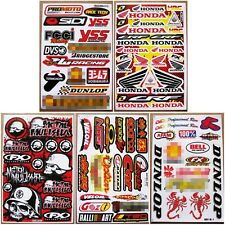Rally Dakar Dirt Rider Motocross Racing ATV MX1 Car Helmet Stickers 5 sheets