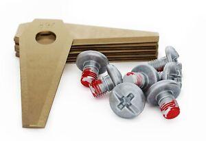 MOWHOUSE 9 x Ersatzmesser für Bosch Indego Mähroboter Titan Messer Ersatzklingen