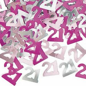 4 x 21th Pink Happy Birthday Party Glitz Table Confetti Sprinkles Decorations