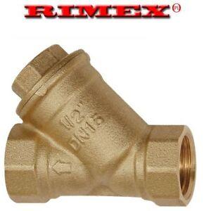 Brass In-Line Y Strainer / Filter 1/2 - 3/4 - 1 Inch BSP