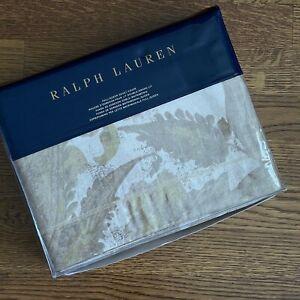 $355 Ralph Lauren WESTON PARK Attley Full / Queen Duvet Cover GOLD nwtgs