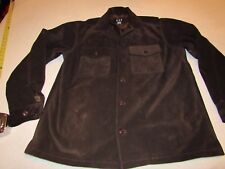 MENS GAP LEATHER JACKET SIZE SMALL BROWN NICE SHAPE