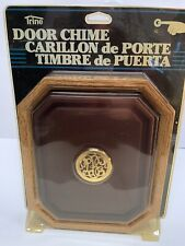 VINTAGE Trine 82 Simulated Wood Finish Door Chime In Original Package Dated 1991