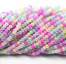 "Czech Glass Seed Beads Size 11/0 "" MIX CEYLON PASTEL "" Strands"