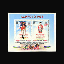 Grenada, Sc #439a, MNH, 1972, S/S, Olympics, Sapporo, Flags, Military, ADD-F