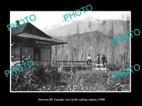 OLD LARGE HISTORIC PHOTO OF DORREEN BC CANADA, THE RAILWAY STATION c1900