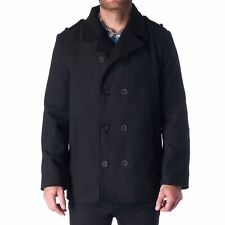Hammer Anvil Bryce Mens Wool Blend Double Breasted Peacoat Dress Jacket Pea Coat