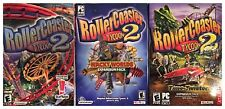 Roller Coaster Tycoon 2 + Time Twister + Wacky Worlds PC Sealed New Box or Case