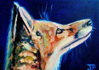 ORIGINAL Fox Painting  - British Handmade Animal Art Original Presale