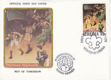 1979 Liberia Scouting / Norman Rockwell Commem.Fdc Cover - Men Of Tomorrow