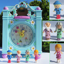 Mini Polly Pocket Funtime Clock Playset 100% complete FUNKTIONSFÄHIG Uhr TOP