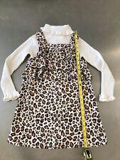 gymboree Size 6 Parisian Chic EUC 2 pc set dress sweater leopard fall winter