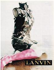 PUBLICITE ADVERTISING 105  2002  LANVIN  haute couture