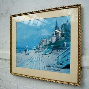 Framed Monet 'The Beach at Trouville' Artists Impressionist Landscape Print