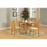 5 Piece Dinette Set For Small Spaces Table and 4 Dining Table Chairs