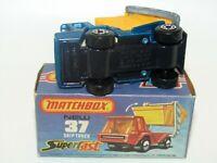 Matchbox Superfast No 37 Skip Truck Blue BLUE-GREY BASE VNMB RARE