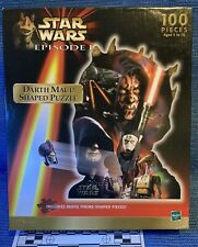 Star Wars Darth Maul Shaped 100 Piece Puzzle w/ Droids Separatists Sidious. NEW