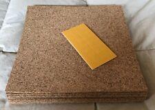 "Quartet 8 Pack cork tiles, 12"" x 12"", with self-stick pads, New"