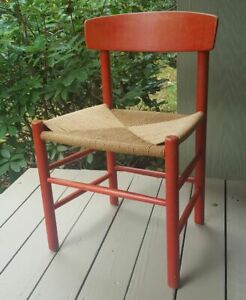 Borge Mogensen FDB Mobler J39 Dining Chair AS-IS Danish Red Tone Stain